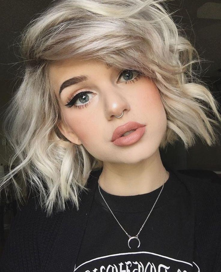 The 25+ Best Blonde Short Hair Ideas On Pinterest | Short Blonde For Short Blonde Hair With Bangs (View 15 of 15)