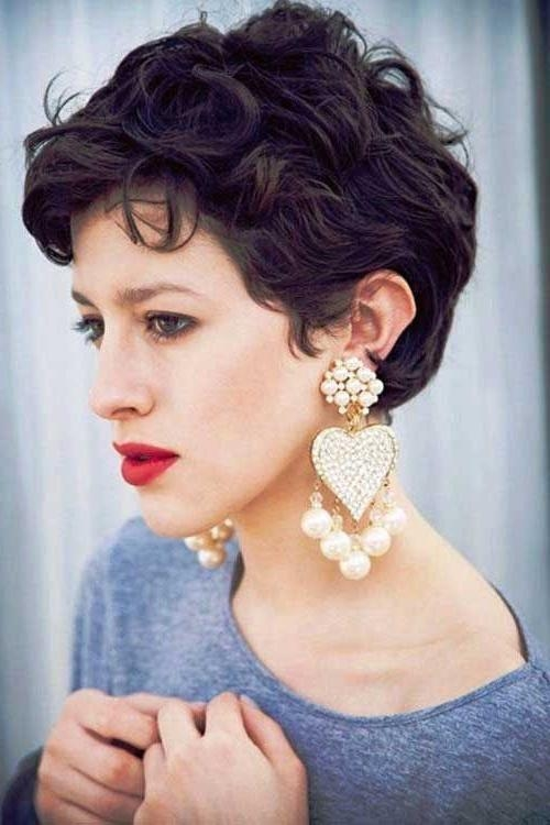 The 25+ Best Curly Pixie Hairstyles Ideas On Pinterest | Curly Throughout Cute Hairstyles For Really Short Hair (View 12 of 15)