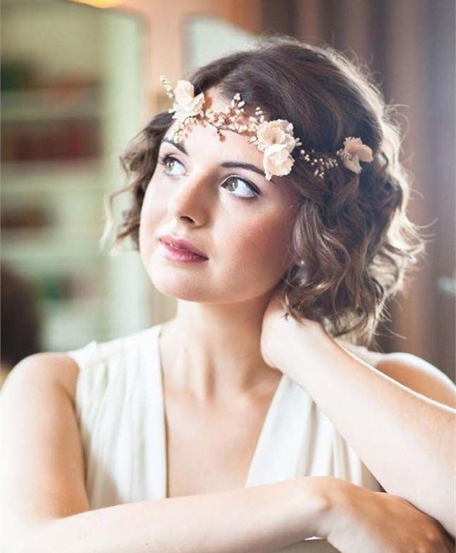 The 25+ Best Short Wedding Hairstyles Ideas On Pinterest | Wedding Intended For Hairstyles For Brides With Short Hair (View 14 of 15)
