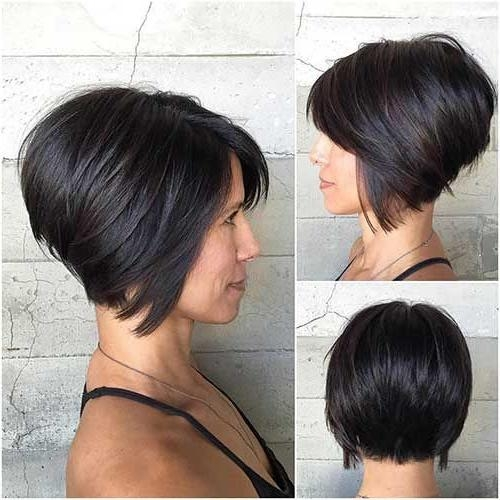 The 25+ Best Stacked Bob Long Ideas On Pinterest | Longer Stacked Regarding Short Inverted Bob Haircuts (View 13 of 15)