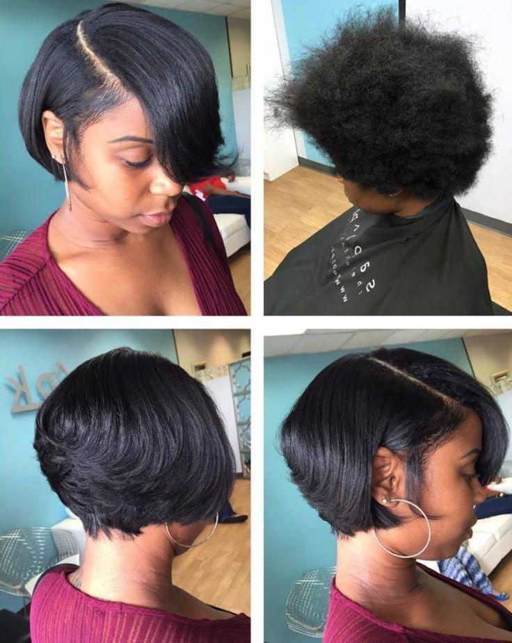 Top 25+ Best Short Black Hairstyles Ideas On Pinterest | African Inside Short To Medium Black Hairstyles (View 3 of 15)