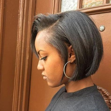 Top 25+ Best Short Black Hairstyles Ideas On Pinterest | African Throughout Short To Medium Black Hairstyles (View 15 of 15)