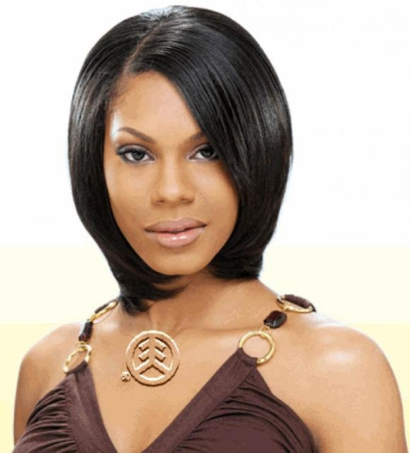 Top Hairstyles Models: Nice Short Weave For Black Hair Inside Short Weaves For Oval Faces (View 14 of 15)
