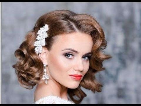 Wedding Hairstyles For Short Hair – Youtube With Hairstyles For Short Hair For Wedding (View 15 of 15)
