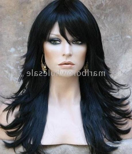 109 Best Hair Images On Pinterest | Cheap Wigs, Jets And Long Wigs Throughout Long Layered Black Haircuts (View 1 of 15)