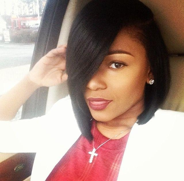 13 Fabulous Short Bob Hairstyles For Black Women – Pretty Designs Within Recent Stylish Asymmetrical Bob Hairstyles (View 2 of 15)