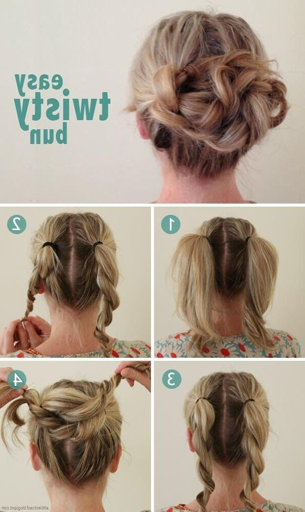 15 Fresh Updo's For Medium Length Hair – Popular Haircuts With Regard To Medium Long Updos Hairstyles (View 1 of 15)