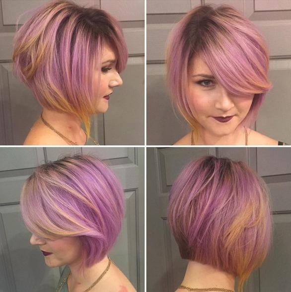 18 Beautiful Short Hairstyles For Round Faces 2016 – Pretty Designs In Most Recently Released Colored Bob Hairstyles (View 1 of 15)