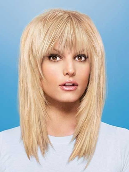 20 Best Medium Hair Cuts With Bangs | Hairstyles & Haircuts 2016 Regarding Long Length Hairstyles With Fringe (View 10 of 15)