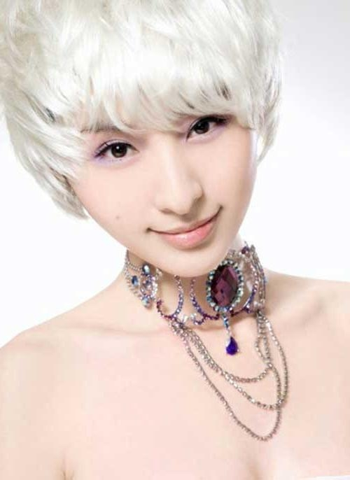 Featured Photo of Cute Short White Hairstyles For Korean Girls