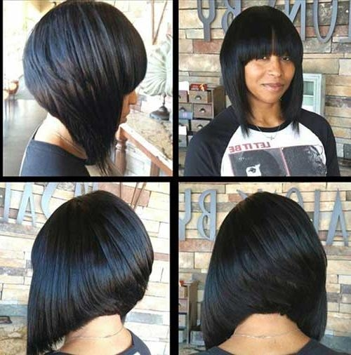 2017 Inverted Bob Hairstyles With Bangs Pertaining To Best Weave For Bob With Bangs And Inverted Bob Hairstyle Also Shor (View 2 of 15)