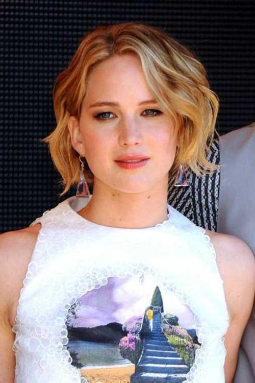 2017 Jennifer Lawrence Short Bob Haircuts Throughout Jennifer Lawrence With Short Hair (View 1 of 15)