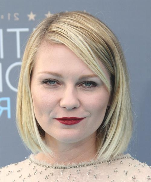 2017 Kirsten Dunst Bob Hairstyles Intended For Kirsten Dunst Medium Straight Casual Bob Hairstyle (View 2 of 15)