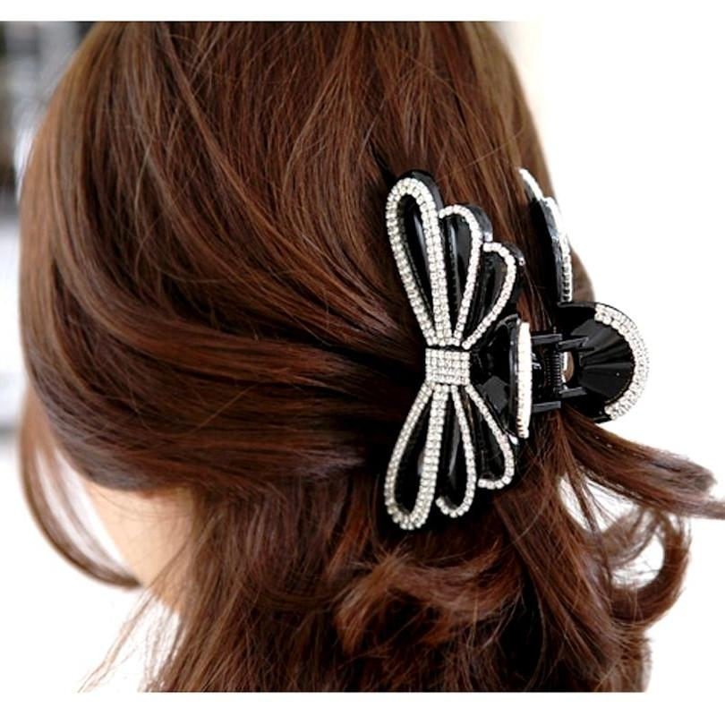 2017 Popular Hair Clips For Thick Long Hair Inside Hair Clips For Thick Long Hairstyles (View 1 of 15)