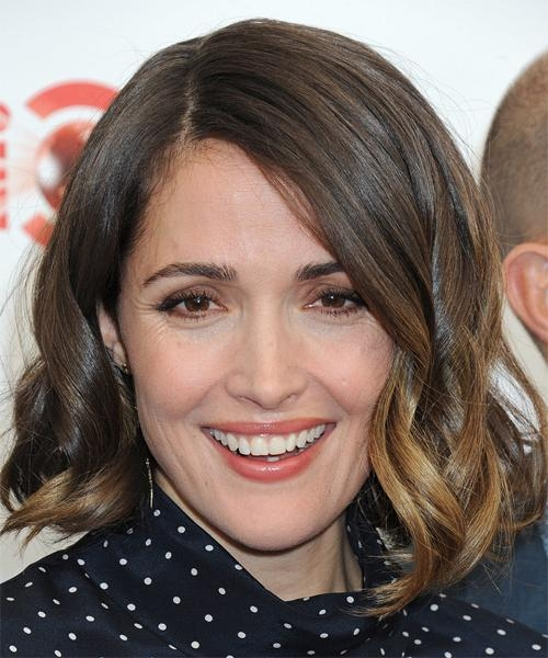 2018 Rose Byrne Bob Hairstyles Inside Rose Byrne Medium Wavy Formal Bob Hairstyle – Medium Brunette Hair (View 1 of 15)