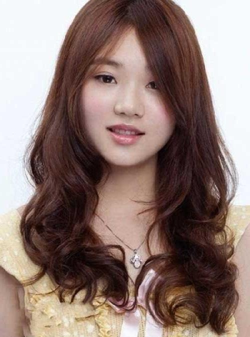 15 Collection Of Korean Hairstyle With Round Face