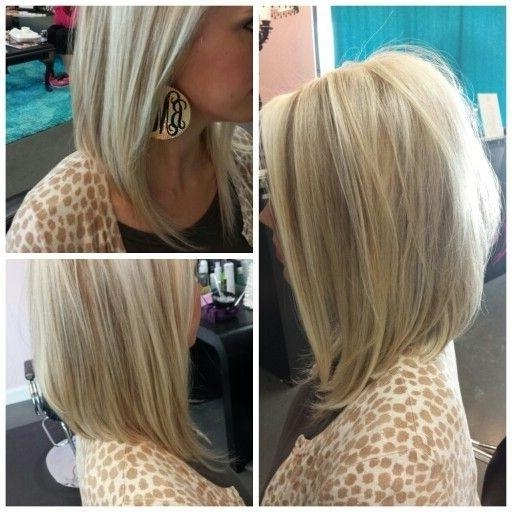 27 Beautiful Long Bob Hairstyles: Shoulder Length Hair Cuts For Widely Used Medium Length Angled Bob Hairstyles (View 12 of 15)