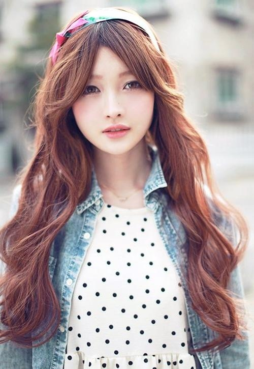 27 Best Korean Hairstyles Images On Pinterest | Korean Hairstyles Throughout Korean Long Haircuts For Women With Red Hair (View 3 of 15)