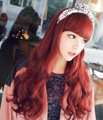 27 Best Korean Hairstyles Images On Pinterest | Korean Hairstyles Within Korean Long Haircuts For Women With Red Hair (View 4 of 15)
