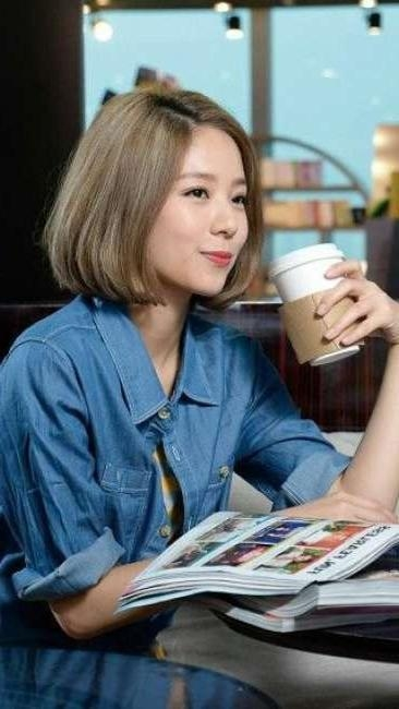 27 Best Short Hair Images On Pinterest | Korean Hairstyles, Korean Pertaining To Cute Short White Hairstyles For Korean Girls (View 15 of 15)