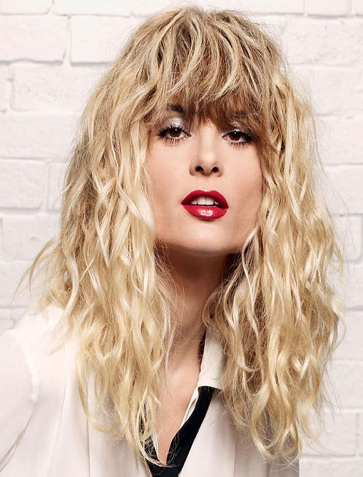 32 Excellent Perm Hairstyles For Short, Medium, Long Hair Length Inside Long Permed Hairstyles With Bangs (View 4 of 15)