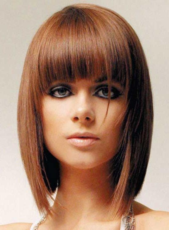 35 Awesome Bob Haircuts With Bangs – Makes You Truly Stylish In Current Medium Length Bob Hairstyles With Bangs (View 1 of 15)