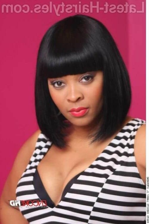 35 Bob With Bangs Hairstyle Ideas Trending Right Now (Updated 2017) Pertaining To Favorite Bob Hairstyles For Black Women With Sleek Bangs (View 6 of 15)