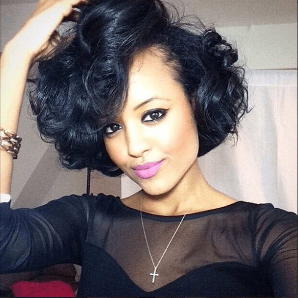 5 Crazy Wedding Wavy Bob Hairstyles Black Women (View 4 of 15)