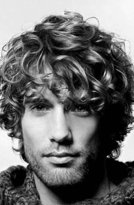 50 Long Curly Hairstyles For Men – Manly Tangled Up Cuts In Long Curly Haircuts For Men (View 2 of 15)
