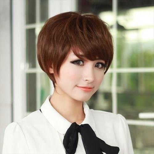 Asian Hairstyles for Girls: Short Straight Hair