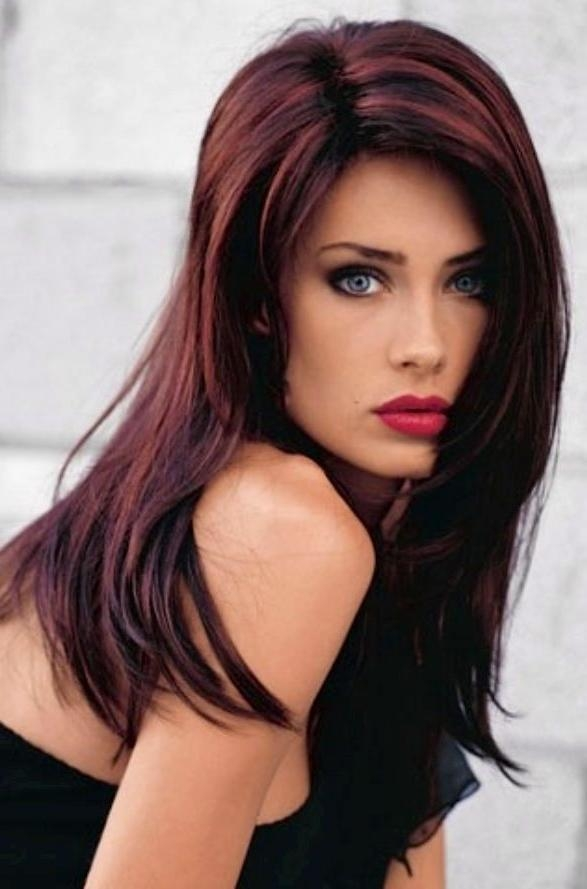 A Fabulous Long Black And Brown Hairstyle Ideas With Highlights Throughout Highlights For Long Hairstyles (View 1 of 15)