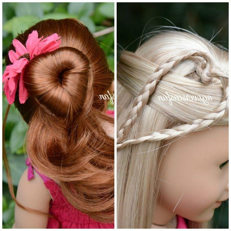 American Girl Doll Hairstyles ~Inspiredcutegirlshairstyles Within Cute Hairstyles For American Girl Dolls With Long Hair (View 4 of 15)