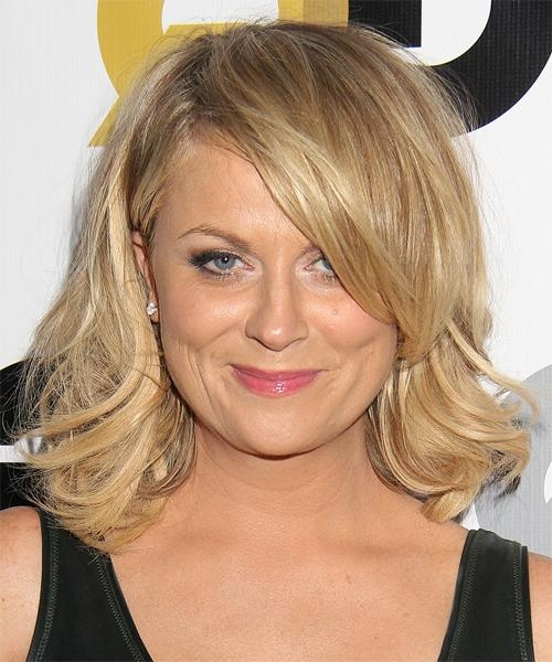 Amy Poehler Medium Straight Formal Hairstyle – Medium Blonde Hair Throughout Well Known Amy Poehler Bob Hairstyles (View 2 of 15)