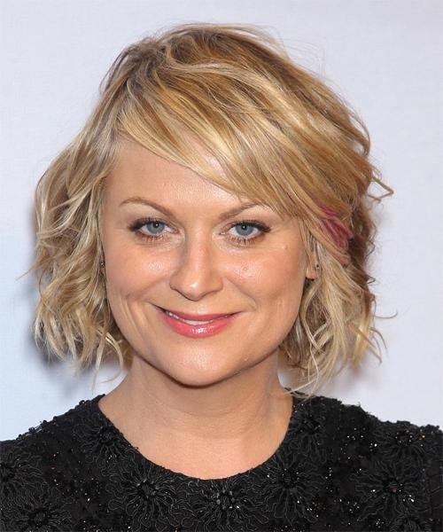 Amy Poehler Short Wavy Hairstyle – Medium Blonde Hair Color Intended For Recent Amy Poehler Bob Hairstyles (View 6 of 15)