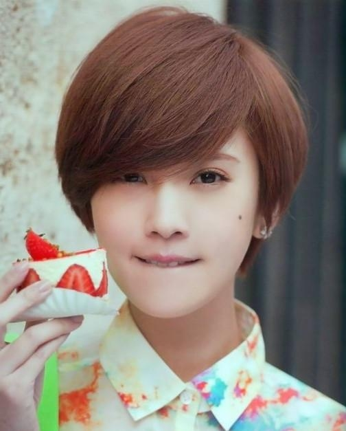 Asian Short Hairstyles: Cute Straight Bob Haircut – Popular Haircuts Inside Korean Short Hairstyles For Girls (View 4 of 15)