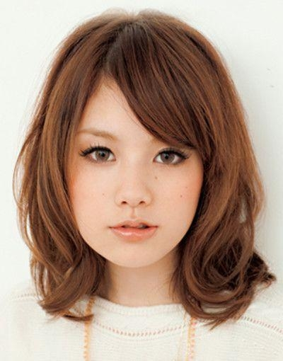 Hairstyle For Asian Not Straight Hair Round Face Google Search