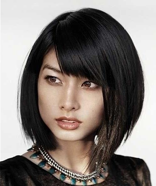 Best 25+ Asian Short Hairstyles Ideas On Pinterest | Asian Haircut Pertaining To Short Bob Hairstyle For Asian Women (View 4 of 15)