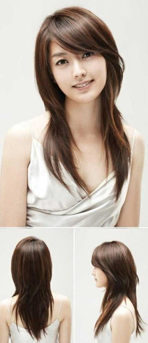 Best 25+ Bangs Long Hairstyles Ideas On Pinterest | Bangs Long With Regard To Long Hairstyles For Korean Women (View 8 of 15)