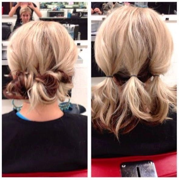 Best 25+ Bob Updo Hairstyles Ideas On Pinterest | Bridesmaid Hair In Medium Long Updos Hairstyles (View 5 of 15)