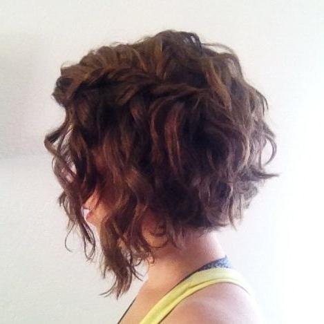 Best 25+ Curly Angled Bobs Ideas On Pinterest (View 4 of 15)