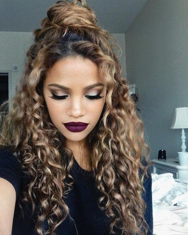 Best 25+ Curly Homecoming Hairstyles Ideas On Pinterest | Curly Throughout Beautiful Long Curly Hairstyles (View 7 of 15)