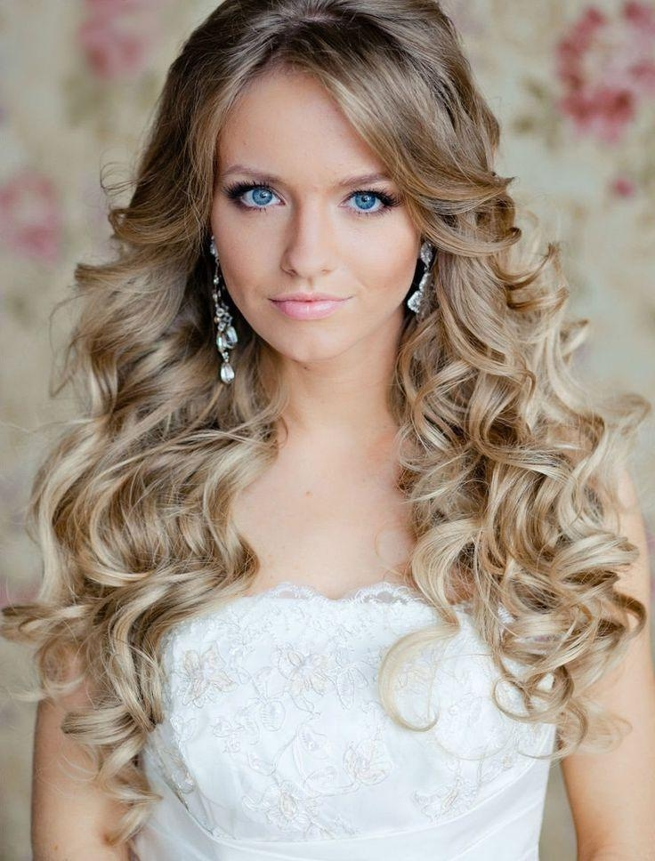 Featured Photo of Long Curly Hairstyles For Wedding