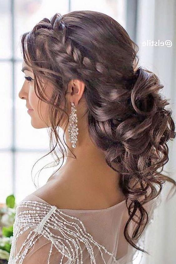 Best 25+ Curly Wedding Hairstyles Ideas On Pinterest | Curly With Curly Hairstyles For Weddings Long Hair (View 9 of 15)