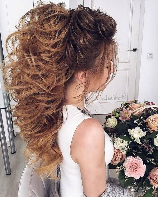 Best 25+ Curly Wedding Hairstyles Ideas On Pinterest | Curly Within Long Curly Hairstyles For Wedding (View 5 of 15)
