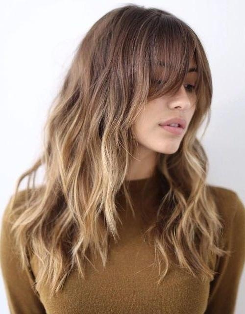 Best 25+ Dyed Bangs Ideas On Pinterest | 2017 Hairstyle, Colored Pertaining To Long Hairstyles Colors And Cuts (View 12 of 15)