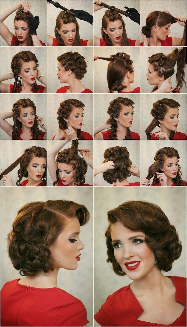 Best 25+ Easy Vintage Hairstyles Ideas On Pinterest | Diy Hair Within Easy Vintage Hairstyles For Long Hair (View 9 of 15)