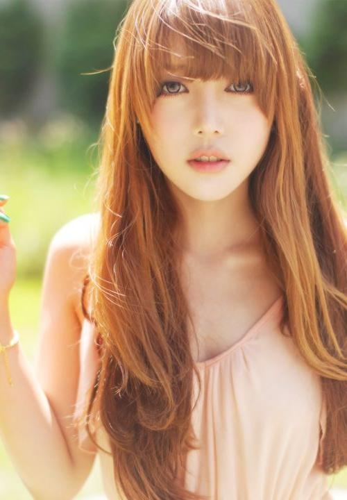 Best 25+ Korean Bangs Ideas On Pinterest | Asian Bangs, Korean For Korean Long Haircuts For Women With Red Hair (View 9 of 15)