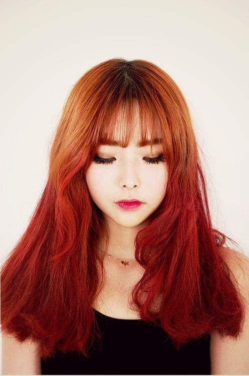 Best 25+ Korean Hair Color Ideas On Pinterest | Korean Hair Pertaining To Korean Long Haircuts For Women With Red Hair (View 10 of 15)