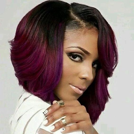 Best 25+ Layered Bob Hairstyles For Black Women Ideas On Pinterest Regarding Most Up To Date Short Colored Bob Hairstyles (View 3 of 15)
