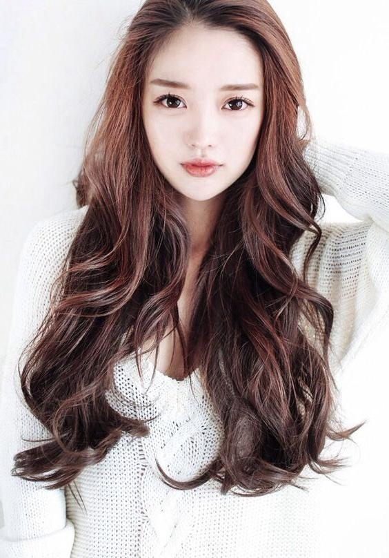 Best 25+ Long Asian Hairstyles Ideas On Pinterest | Asian Pertaining To Korean Long Hairstyles For Women (View 2 of 15)